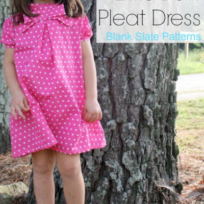 Little Bow Pleat Dress with Sew Kids Grow – Blank Slate Sewing Team