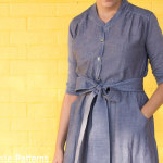 Close up - Marigold Sewing Pattern by Blank Slate Patterns