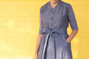 Close up - Marigold Sewing Pattern by Blank Slate Patterns