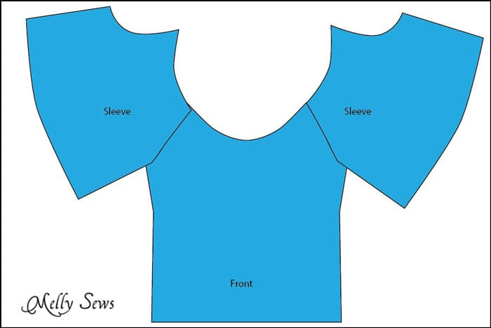 Step 1 finished - Women's Peasant Top Pattern - Sew a Peasant Top - Melly Sews