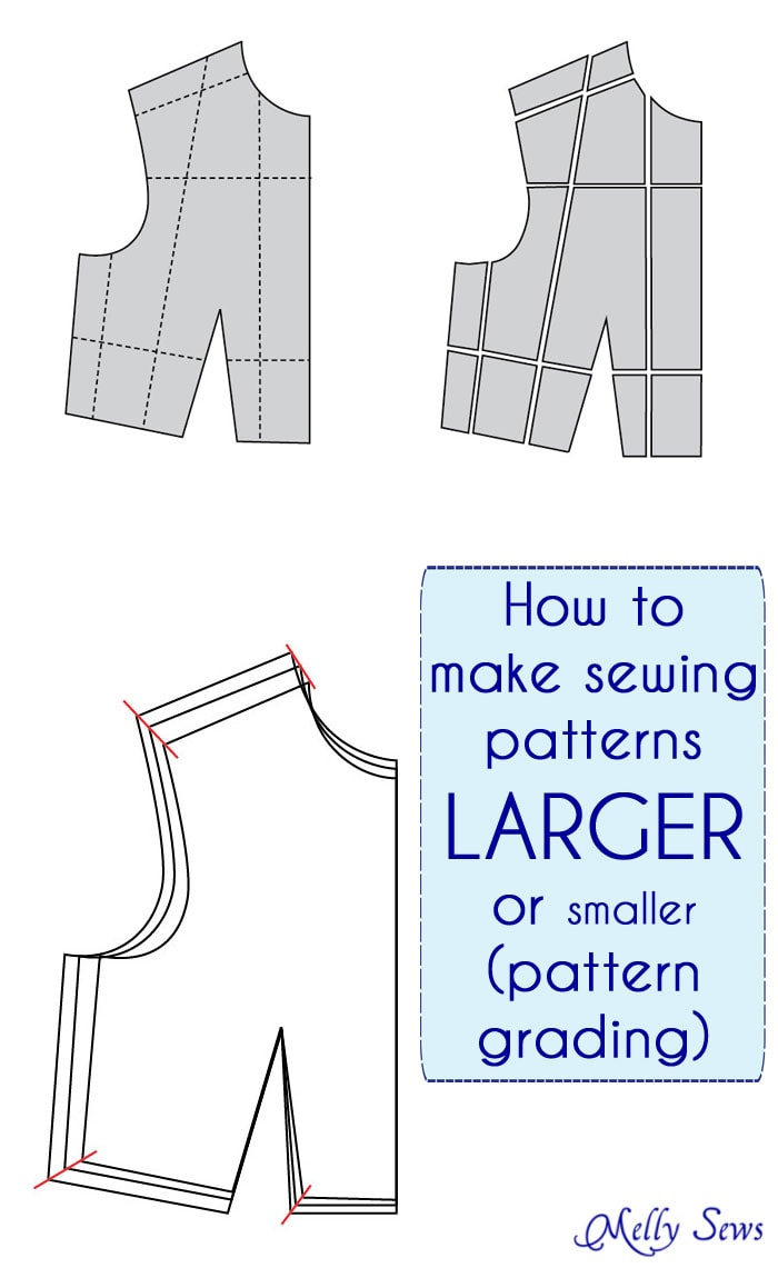 How to make Sewing Patterns Bigger (or smaller) - Melly Sews