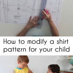 How to modify a shirt pattern - shirt pattern fitting for your child - Melly Sews