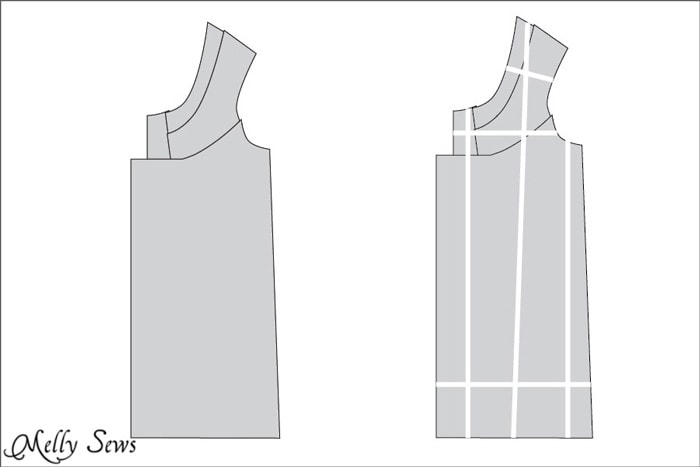 How to grade a multi-piece sewing pattern - Melly Sews