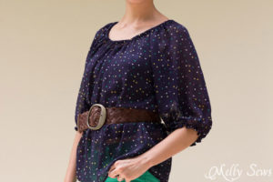 Belted Women's Peasant Top Pattern - Sew a Peasant Top - Melly Sews