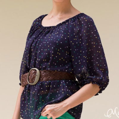Sew a Peasant Top Pattern for Women