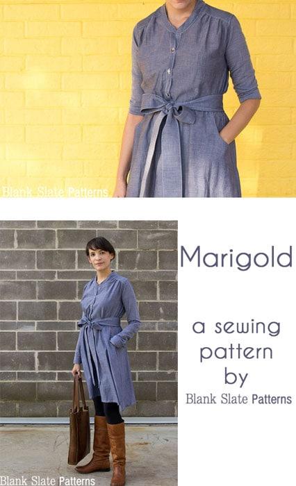 Marigold Sewing Pattern - Dress version, by Blank Slate Patterns