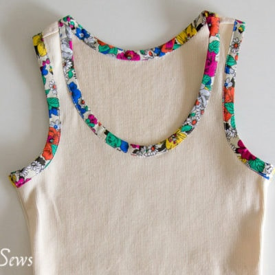Bias Trim Tank Top Tutorial with Free Pattern