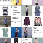 Looks to take you into autumn - Sew a capsule wardrobe with patterns from 8 Days a Week by Pattern Anthology - sewn by Melly Sews