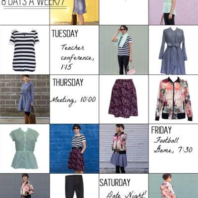 Sew a Capsule Wardrobe – 8 Days a Week Patterns