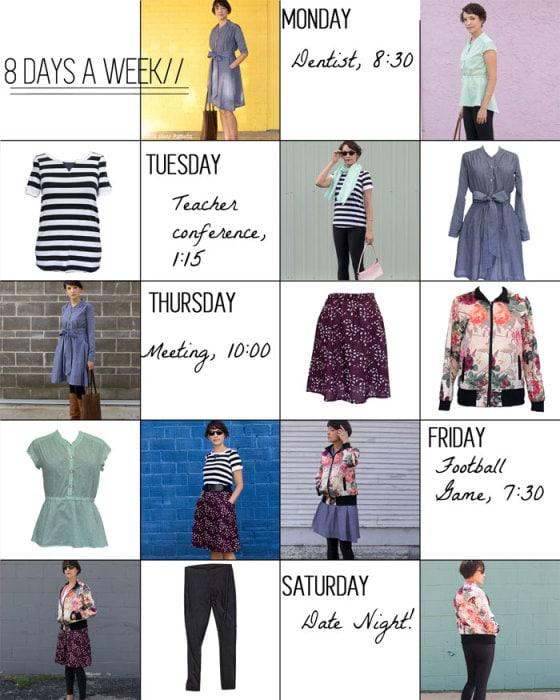 Sew A Capsule Wardrobe 8 Days A Week Patterns Melly Sews