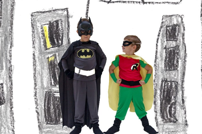 Batman and Robin Costumes in Gotham City - Melly Sews