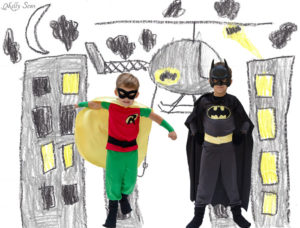 Kid superhero costumes - Melly Sews