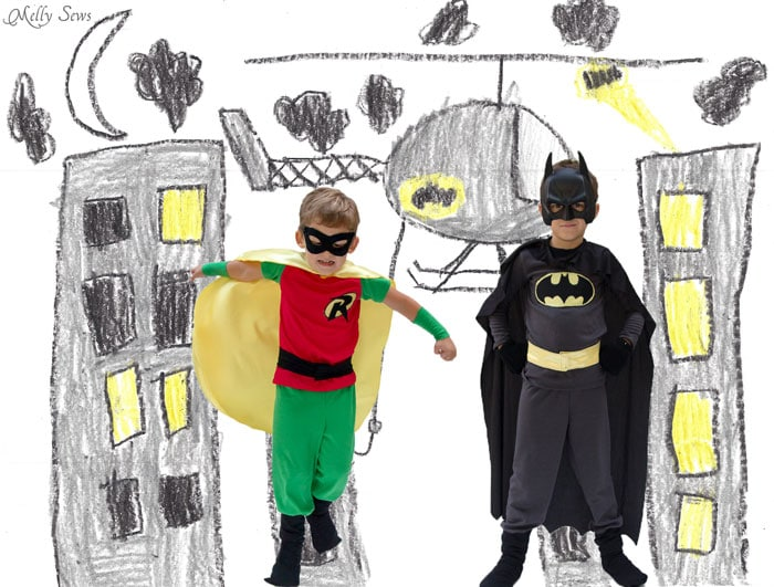 Kid superhero costumes - Melly Sews  sc 1 st  Melly Sews & DIY Batman Costume - Melly Sews