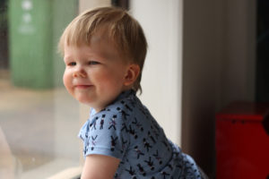Beachy Boatneck for baby - pattern by Blank Slate Patterns, stitched by Things for Boys