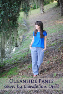 Oceanside Pants with Dandelion Drift – Blank Slate Sewing Team