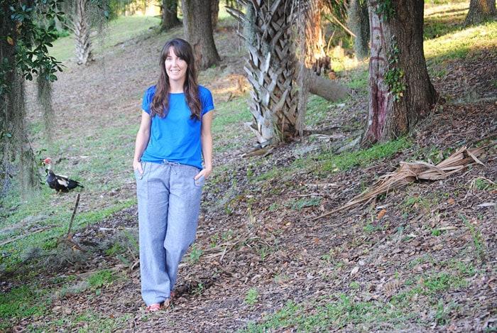 So comfy! - Oceanside Pants by Blank Slate Patterns sewn by Dandelion Drift