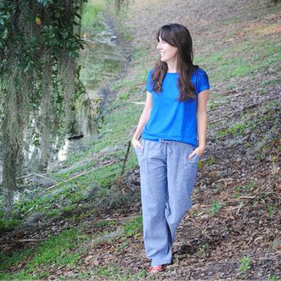 Oceanside Pants with Dandelion Drift – Blank Slate Sewing Team