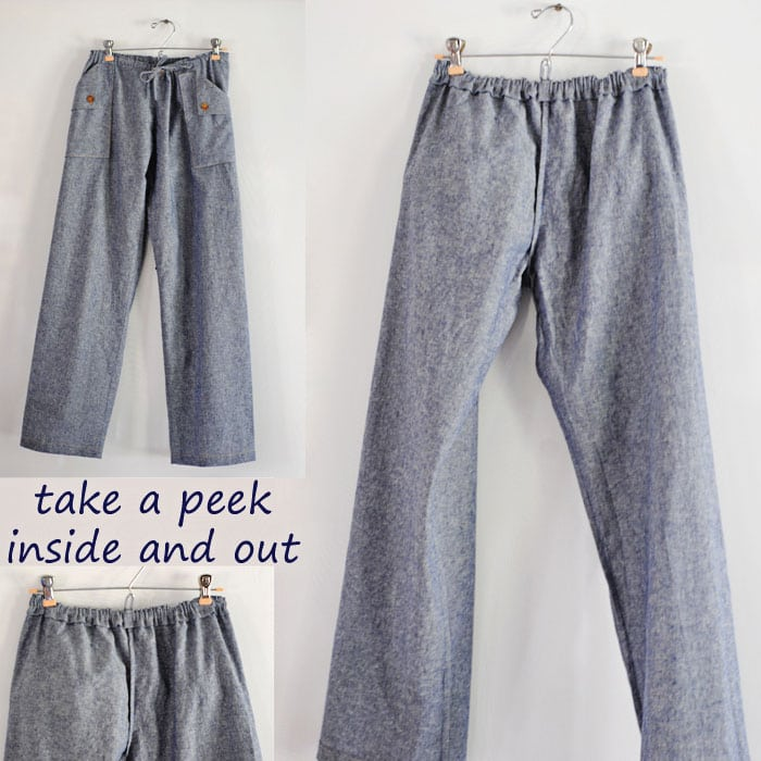 Oceanside Pants with Dandelion Drift - Blank Slate Sewing Team ...
