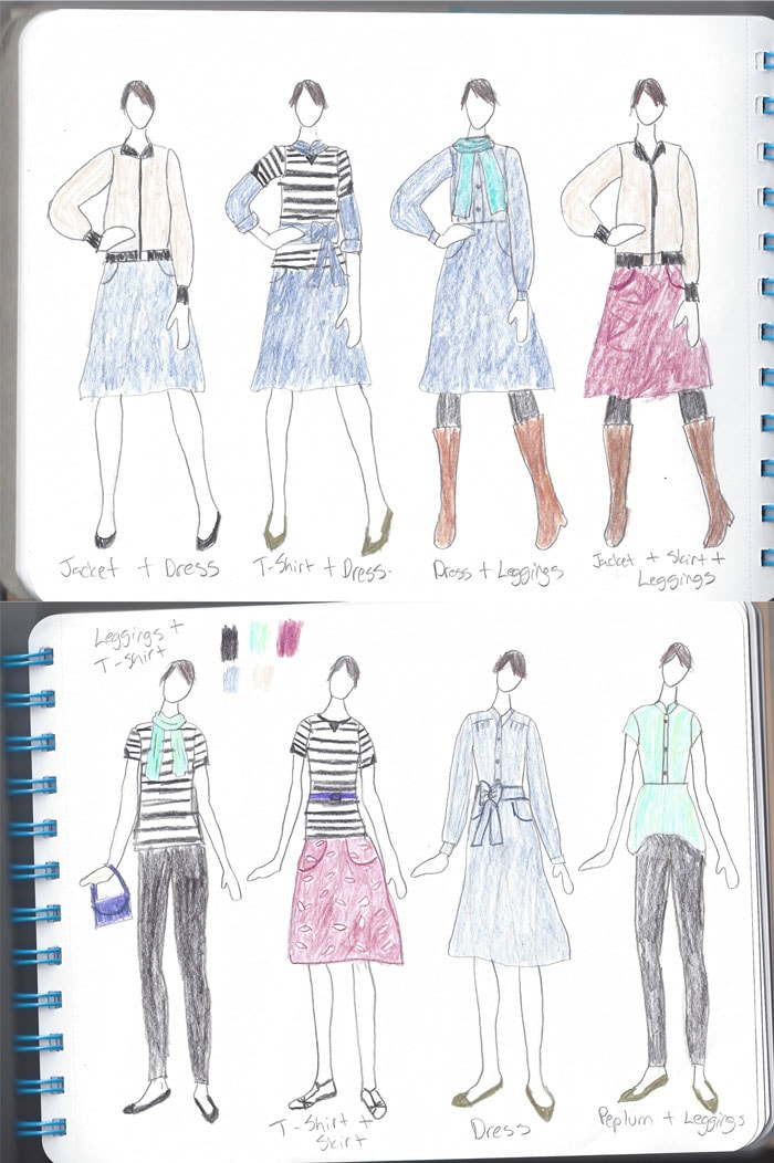 Sketches For Sewing a Capsule