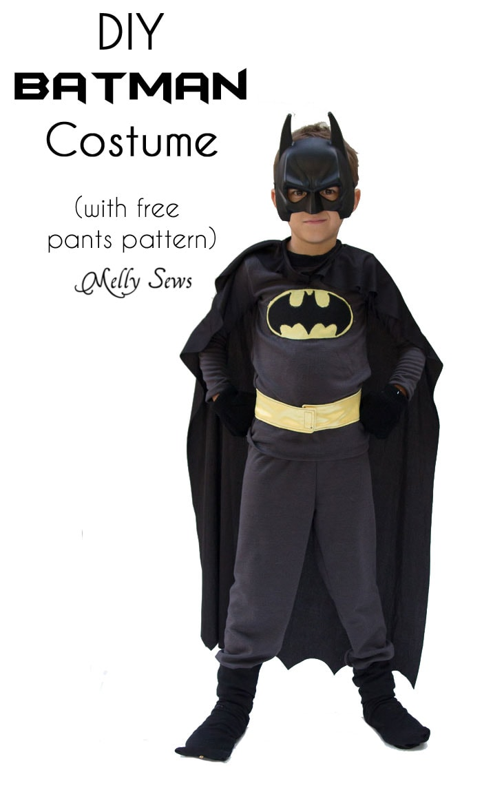 DIY Batman Costume - Sew a Batman Costume - Melly Sews