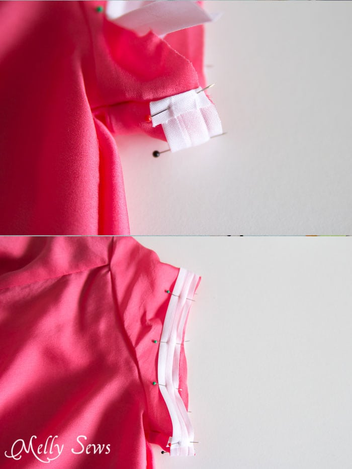 Hem with bias tape - Melly Sews