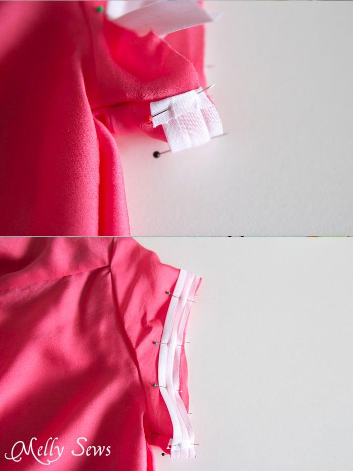 Hem with bias tape - Melly Sews