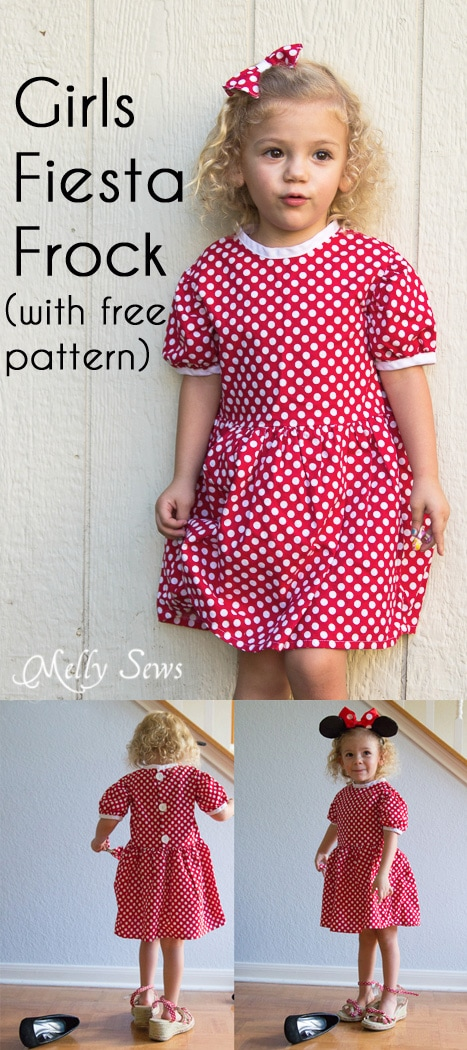 Fiesta Frock Free Girls Dress Pattern - Melly Sews