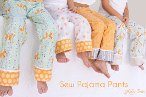 Pajama Pants at Riley Blake!