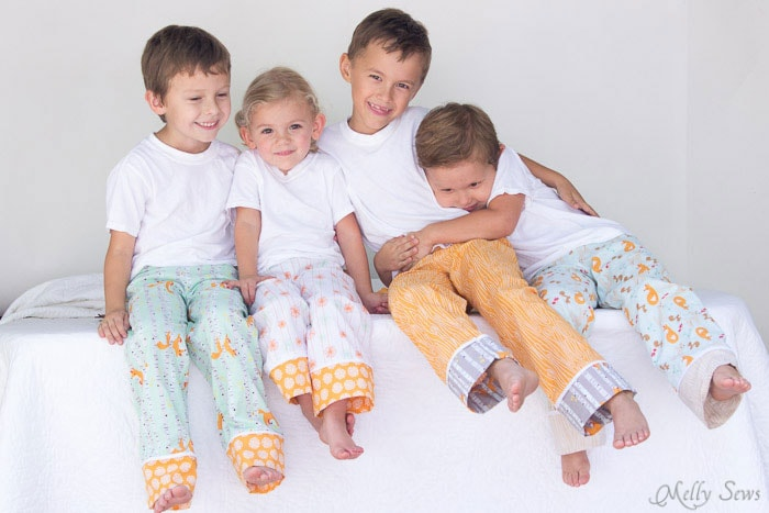 Such an adorable idea - coordinating pajamas! - Sew Pajama Pants - Melly Sews