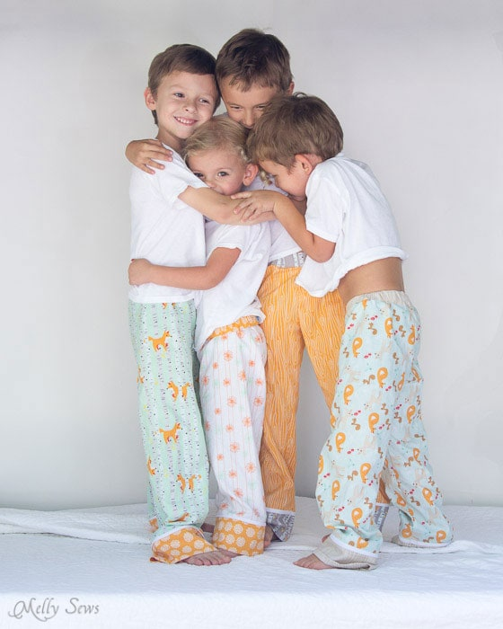 Cousins - photo gift for grandparents - Sew Pajama Pants - Melly Sews