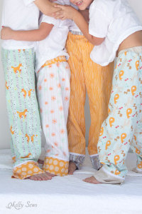 Coordinate siblings for cute photos - Sew Pajama Pants - Melly Sews