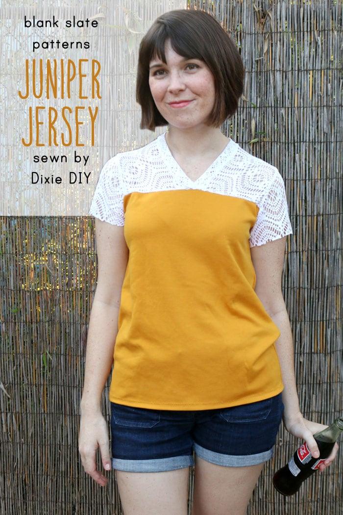 Juniper Jersey pattern by Blank Slate Patterns sewn by Dixie DIY