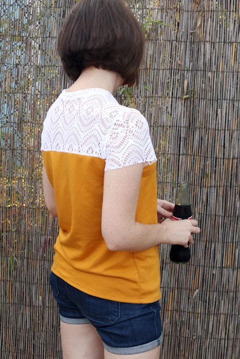 Back view - Juniper Jersey pattern by Blank Slate Patterns sewn by Dixie DIY