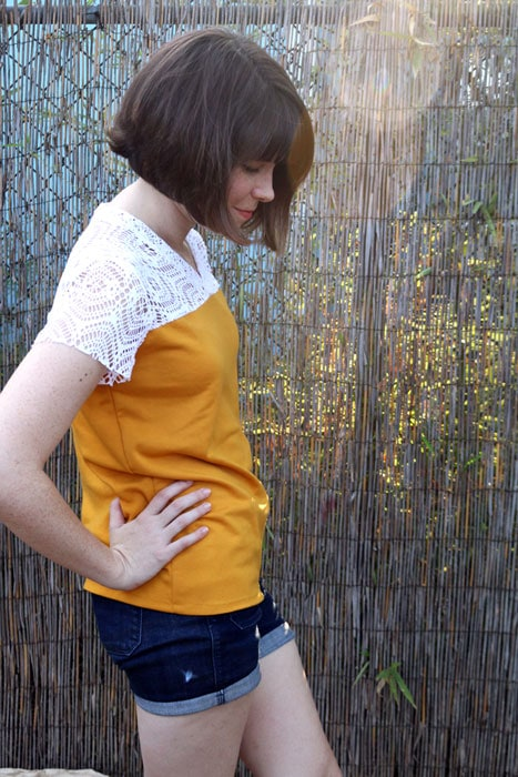 Side view - Juniper Jersey pattern by Blank Slate Patterns sewn by Dixie DIY