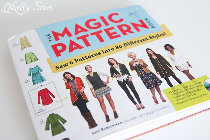 The Magic Pattern Book by Amy Barickman, reviewed by Melly Sews