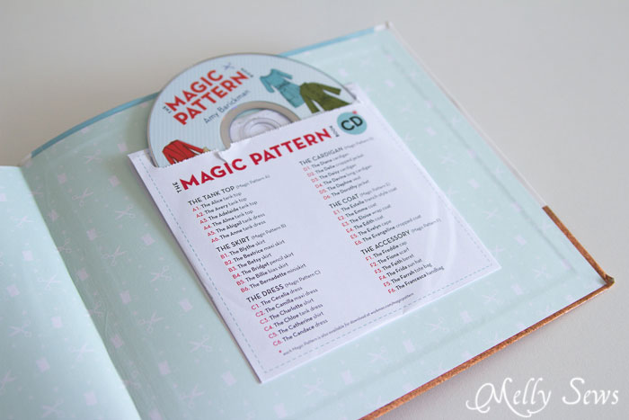Pattern CD - The Magic Pattern Book by Amy Barickman, reviewed by Melly Sews