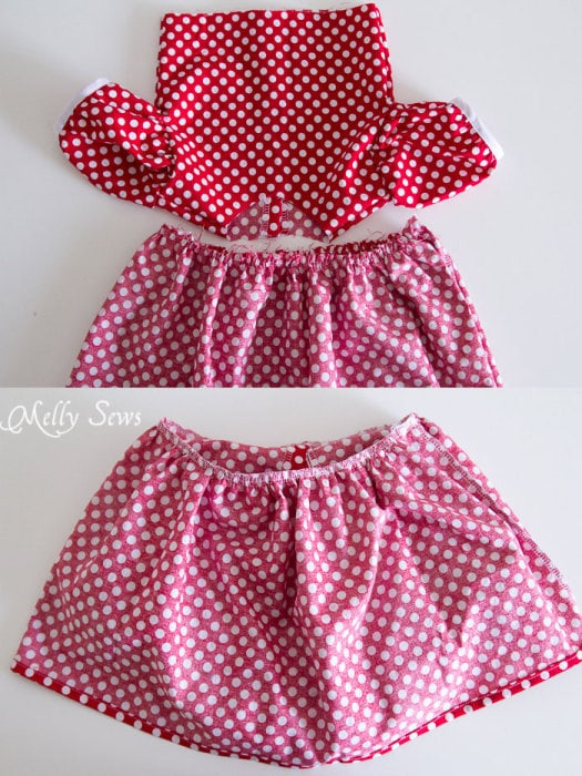Step 9 - Fiesta Frock dress for girls with free pattern - Melly Sews