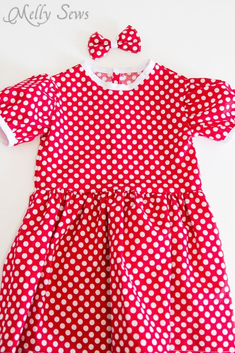 Finished view - Fiesta Frock dress for girls with free pattern - Melly Sews