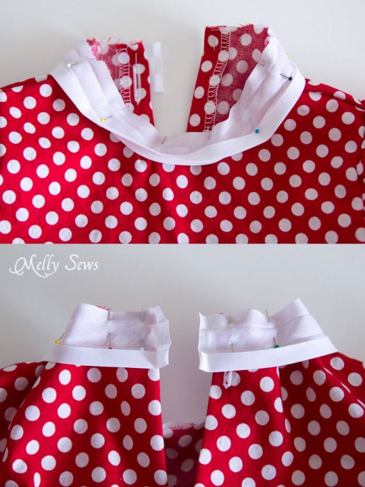 Step 10 -Fiesta Frock dress for girls with free pattern - Melly Sews