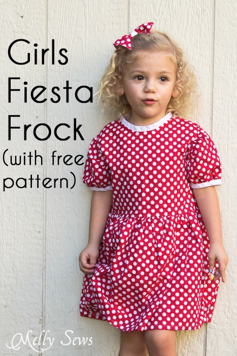 Fiesta Frock dress for girls with free pattern - Melly Sews