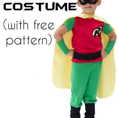Batman and Robin Costume DIY – with free pants pattern!