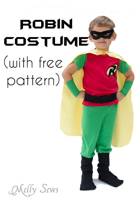 Robin Costume DIY - how to make a Batman and Robin costume for Halloween - Melly  sc 1 st  Melly Sews & Batman and Robin Costume DIY - with free pants pattern! - Melly Sews