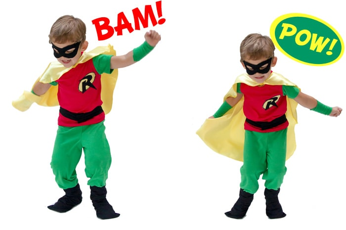 Super cute Superhero costume to sew for your little guy - Melly Sews  sc 1 st  Melly Sews & Batman and Robin Costume DIY - with free pants pattern! - Melly Sews