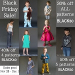 Black Friday Sale on Blank Slate Sewing Patterns