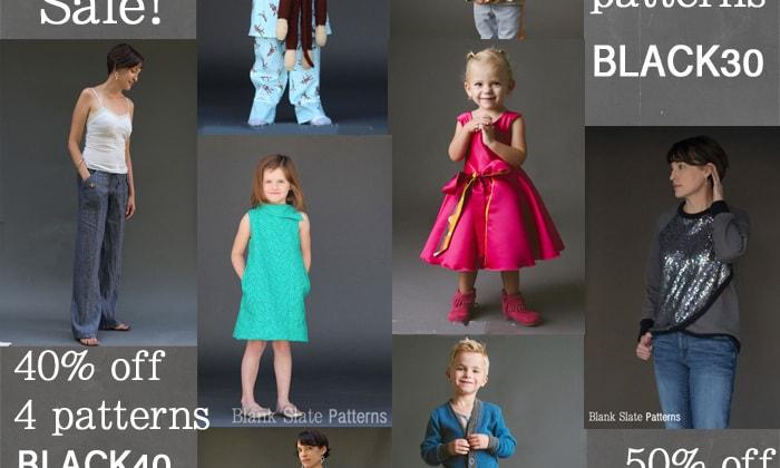 Black Friday Sale on Blank Slate Sewing Patterns