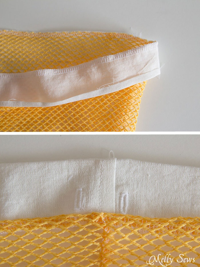 Step 2 - Sew Hanging Laundry Bags - Melly Sews