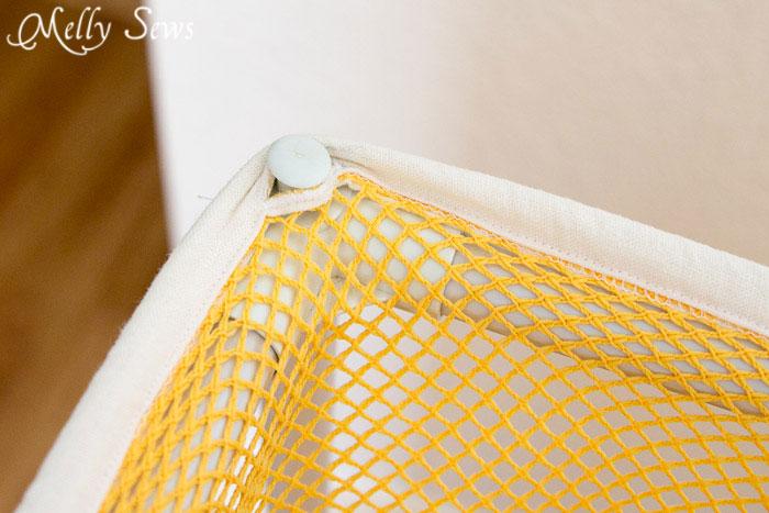 Hanging laundry bag - drawstring laundry bag