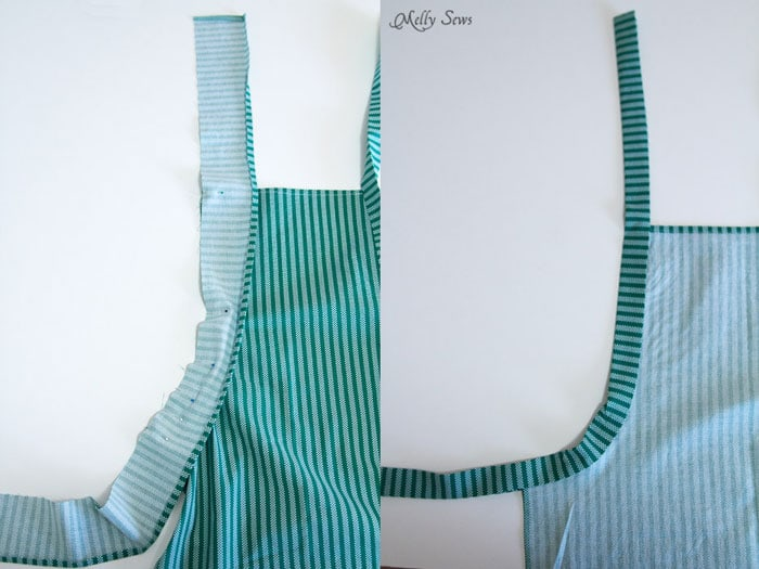Step 4- How to sew an apron - Easy tutorial by Melly Sews