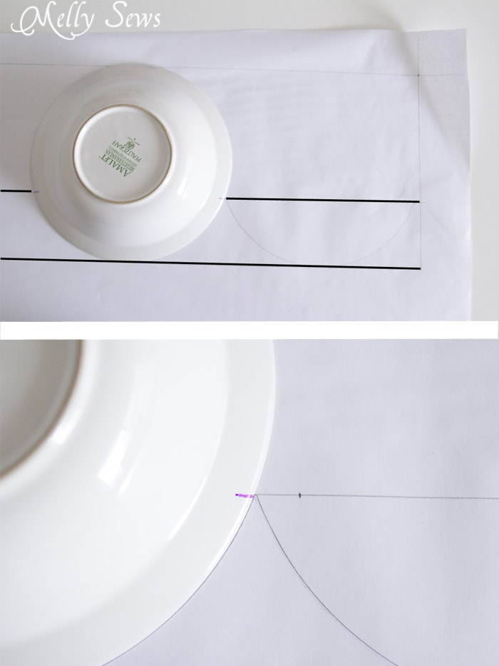 Step 1 - How to sew valances - tutorial for a scalloped valance - Melly Sews
