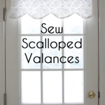 How to sew valances - tutorial for a scalloped valance - Melly Sews